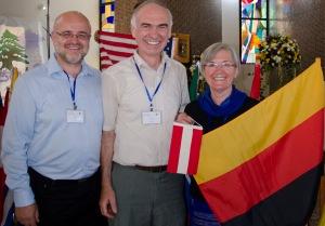 Joseph Waiß (Österreich) mit Ernst Langner und Inge Höpfl